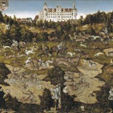 Cacería en honor de Carlos V en el castillo de Torgau