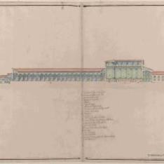 Sección longitudinal de la Cartuja de Évora