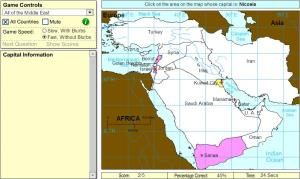 Capitals of Middle East. Intermediate. Sheppard Software