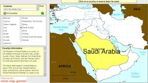 Countries of Middle East. Tutorial. Sheppard Software