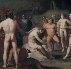 Júpiter a los demás dioses urgen a Apolo a retomar las riendas del carro del Día