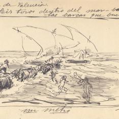 Boceto para La llegada de las barcas, Jávea