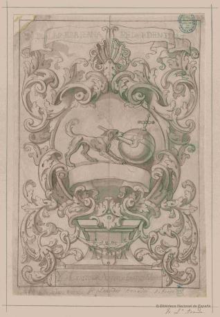 Tarjeta con el emblema de los dominicos