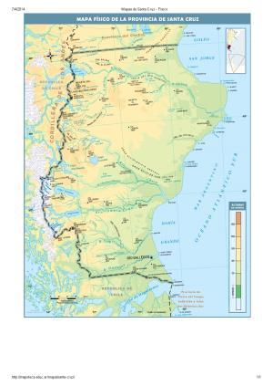Mapa de ríos de Santa Cruz. Mapoteca de Educ.ar