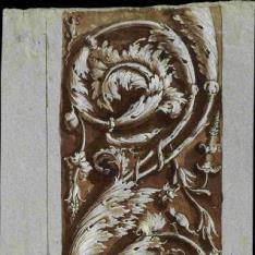 Friso con decoración de hojarasca de las Loggias de Rafael