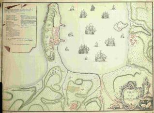 Carte de la Baye de Gibraltar