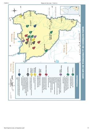 Mapa histórico de San Juan. Mapoteca de Educ.ar