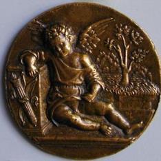 Medalla de Cupido dormido