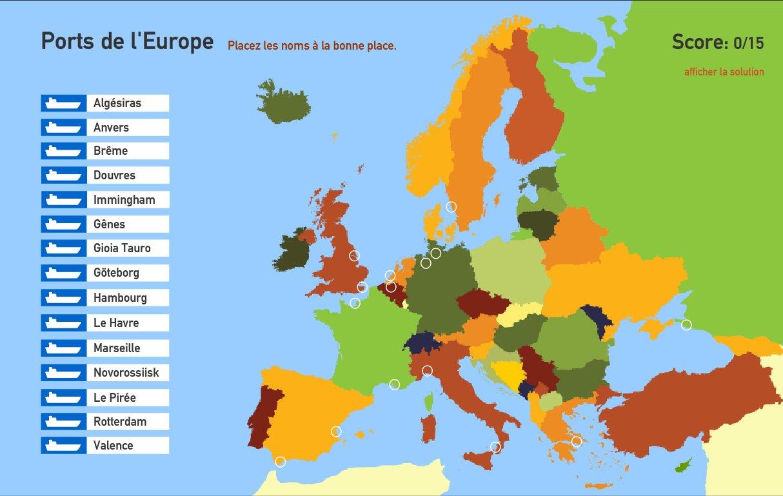 Ports de l'Europe. Toporopa