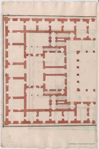Media planta de palacio