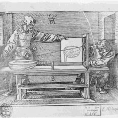 Dibujante de un laud