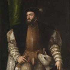 Carlos V con un perro