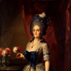 Retrato de María Luisa de Parma como princesa de Asturias