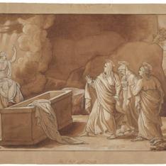 Las tres Marías ante el sepulcro vacío de Cristo