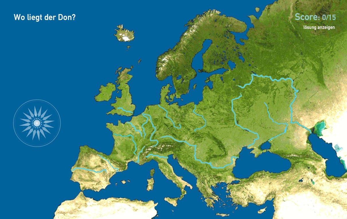 Flüsse in Europa. Toporopa
