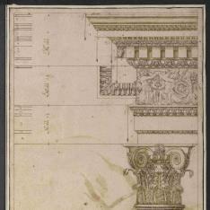 Capitel y entablamento del orden compuesto