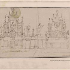 Estudio del altar de la iglesia de Santa Maria de'Servi, Bolonia
