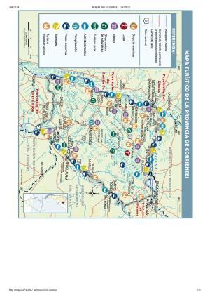 Mapa turístico de Corrientes. Mapoteca de Educ.ar