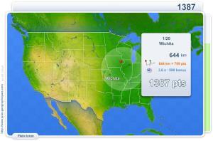 Villes des USA. Jeux géographiques