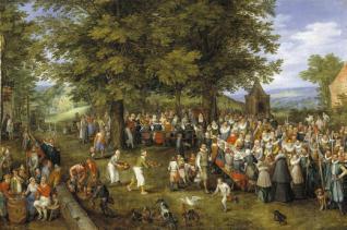 Banquete de bodas presidido por los Archiduques