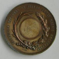 Medalla conmemorativa de la Exposición Nacional de Bellas Artes de 1890