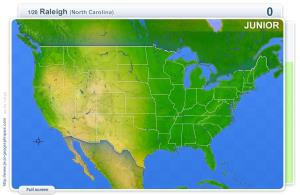 Cities of USA Junior . Geography map games