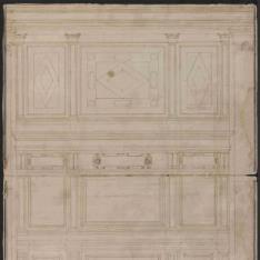 Alzado del lateral del presbiterio de la iglesia de San Matteo, Génova