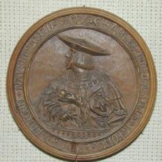 Medallón con retrato de Carlos V