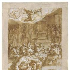 Alegoría de un matrimonio Real / Un rey sentado a la mesa con una joven enfrente de él