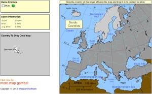 Countries of Europe. Advanced Beginner. Sheppard Software
