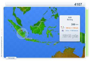 Cities of Indonesia . Geography map games