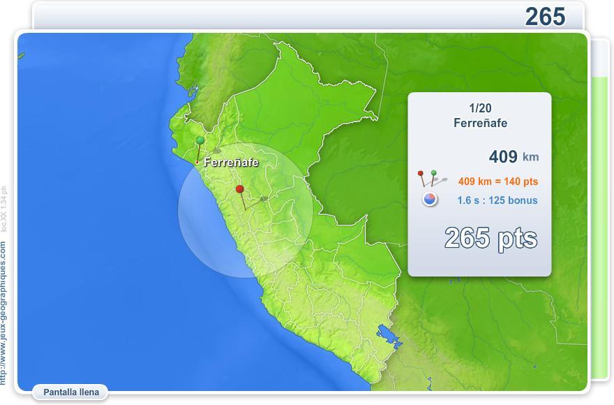 Ciudades de Perú. Juegos Geográficos