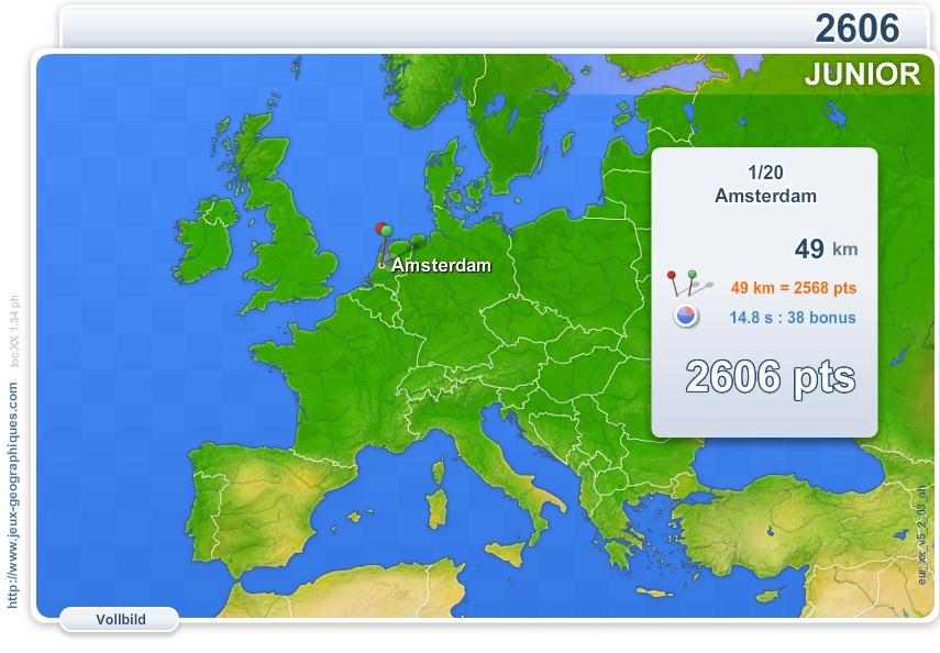 Karte Von Europa Mit Städten.Flash Karte Der Europa Städte Europas Junior Geographie Spiele