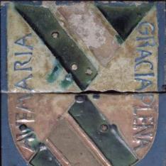 Azulejos por tabla con el Escudo de los Mendoza