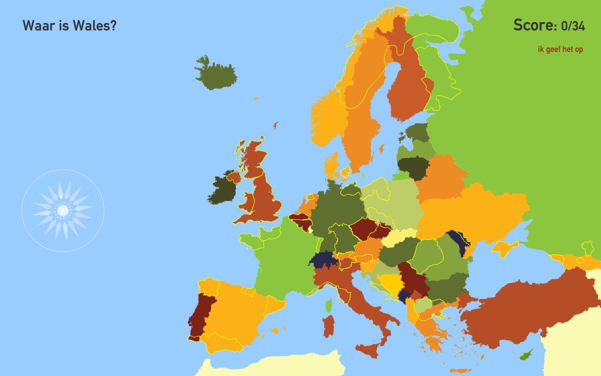 Gebieden van Europa. Toporopa