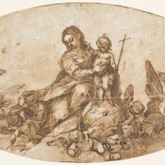 Virgen con el Niño y ángeles