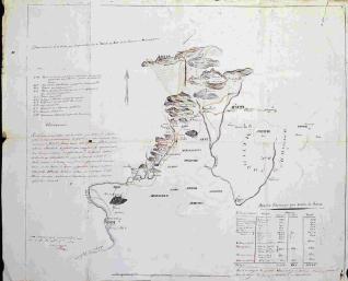 Plano de las fortificaciones de la linea de Zubiri