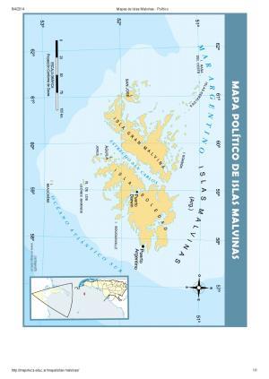Mapa de islas de las Islas Malvinas. Mapoteca de Educ.ar
