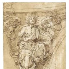 Ángel en una pechina