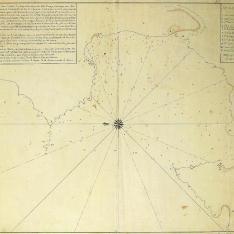 Plano de la Ría de Cormes y Laxe