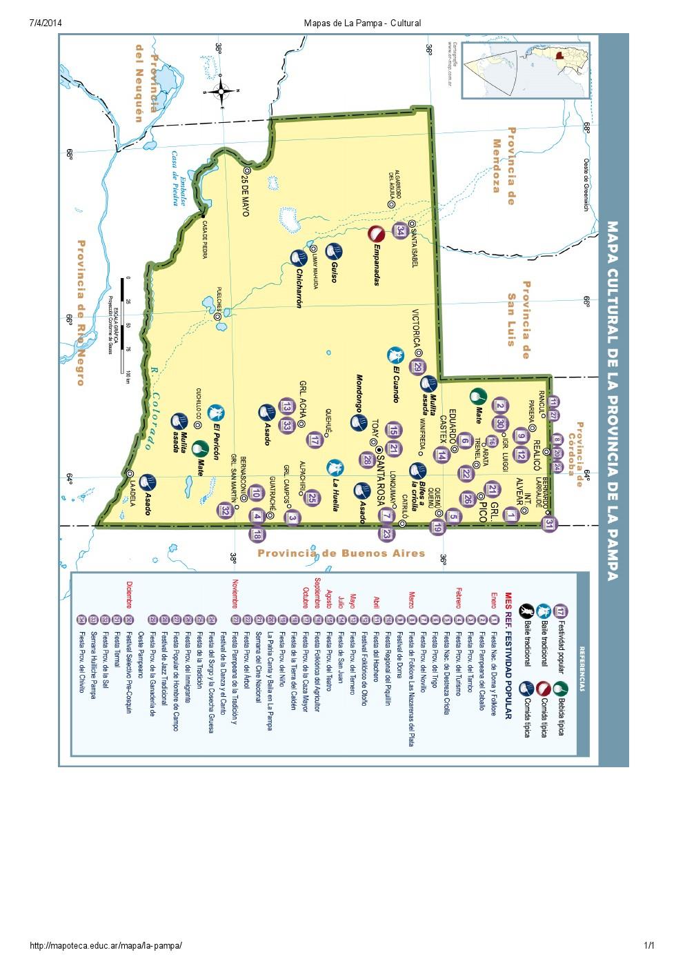 Mapa cultural de La Pampa. Mapoteca de Educ.ar