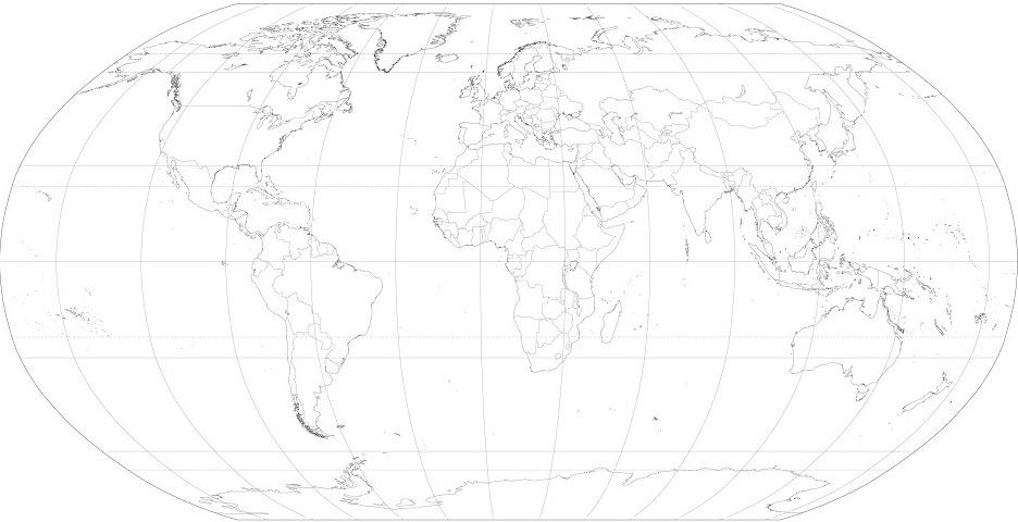 Mapa de países del Mundo. Blographos