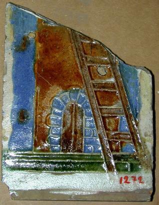 Fragmento de azulejo por tabla