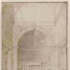 Perspectiva del presbiterio de la iglesia de San Matteo, Génova