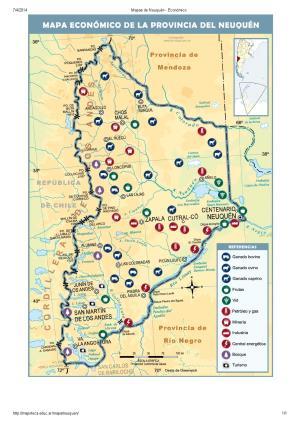Mapa económico de Neuquén. Mapoteca de Educ.ar