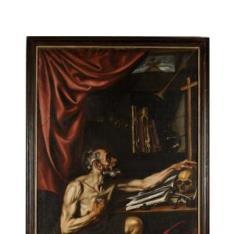 San Jerónimo penitente en su estudio