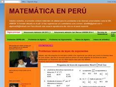 MATEMATICA EN PERU