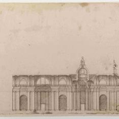 Sección longitudinal de un templo