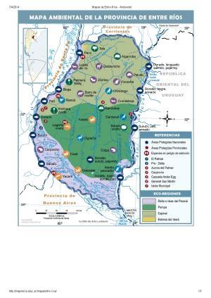 Mapa ambiental de Entre Ríos. Mapoteca de Educ.ar