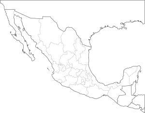 Mapa de estados de México. Freemap